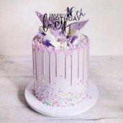 浪漫紫色淋面蛋糕