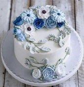 学员作品裱花生日蛋糕