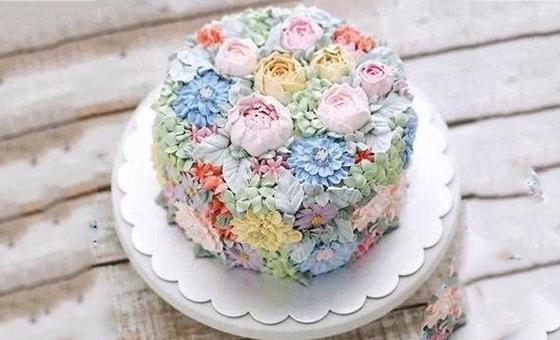 学员作品裱花蛋糕